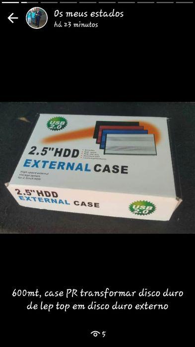 Case PR disco duro a 600mt