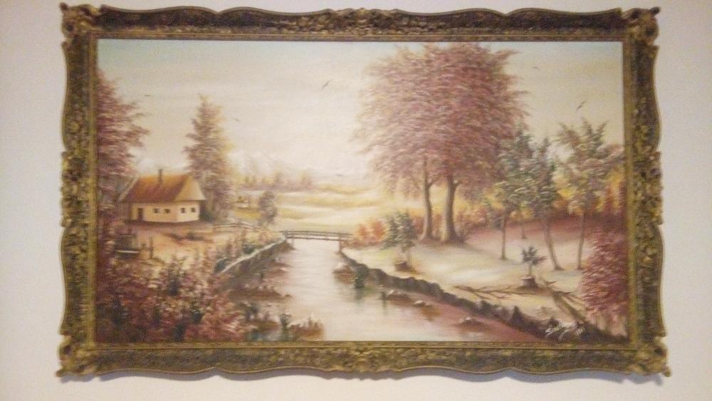 """Tablou pictura in ulei 30 de ani: """"Toamna"""", pictor Scortanu, din 1987"""