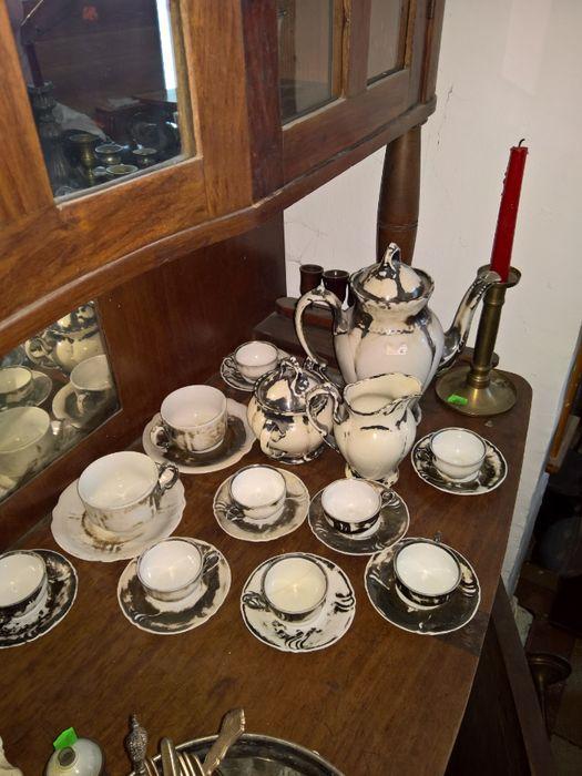 serviciu cafea argintat