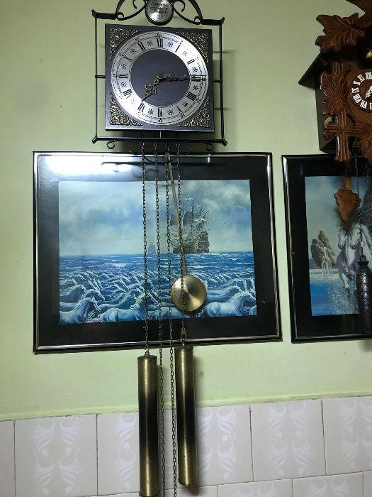 Ceas de perete cu pendul-TEMPUS FUGIT
