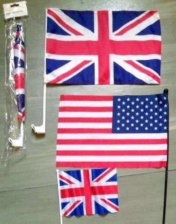 US & UK Flags __ Steaguri : America & Marea Britanie