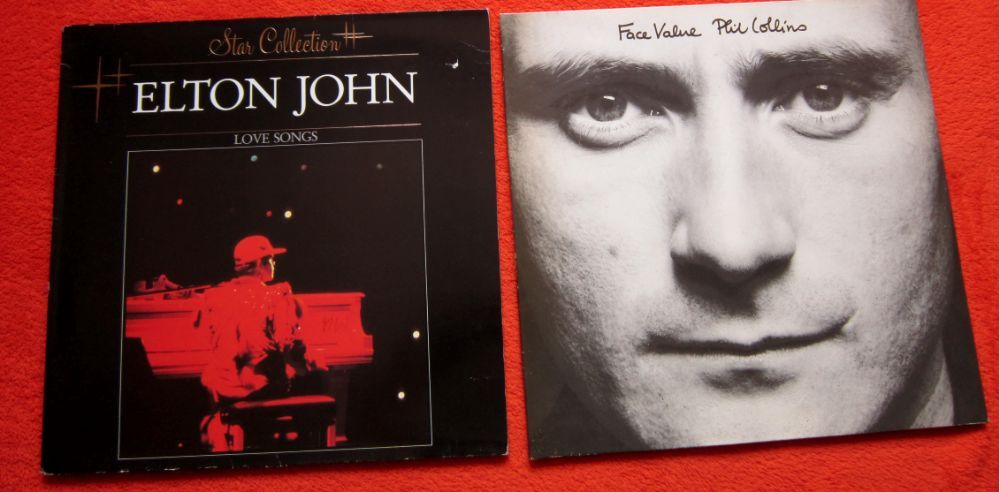 "vinil 2LP Elton John–""Love Songs""&Phil Collins–""Face Value""(impecabile"
