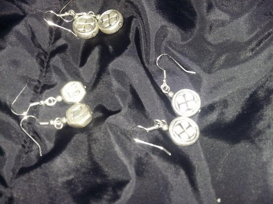 cercei vintage dama,cercei argintati,set cercei vintage,3 seturi cerce