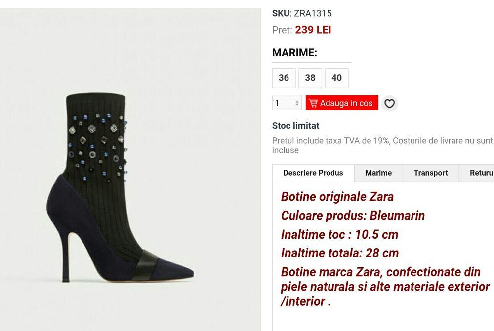 online de vânzare magazin de vânzare produse de calitate Dezactivate: Botine cizme Zara Piele noi-OFERTA AZI Vaslui • OLX.ro