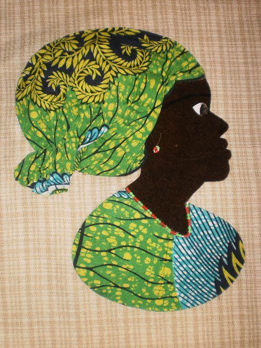 Африканка-картина от текстил върху текстил-варианти гр. София - image 5