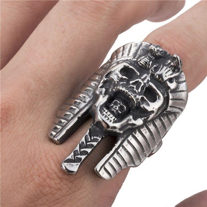 Inel Craniu / Skull / Schelet / Rock / Punk / Metal / Egipt / Gotic