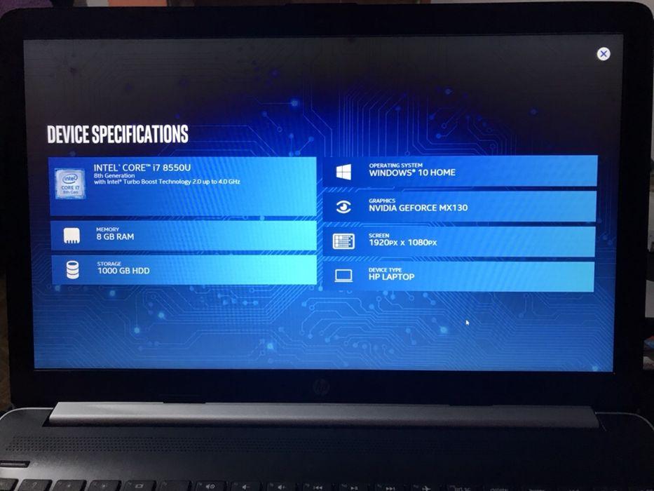 Promo - HP 15 2018 Core i7-8th 8GB+1TB SSHD+GeForce MX130 6GB VRAM