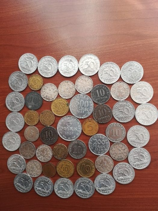 Сребърни и обикновени монети от Германия, Русия, Малайзия...