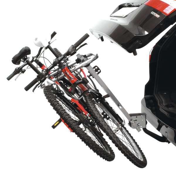 Suport auto pentru 2 biciclete cu prindere pe carligul de remorcare