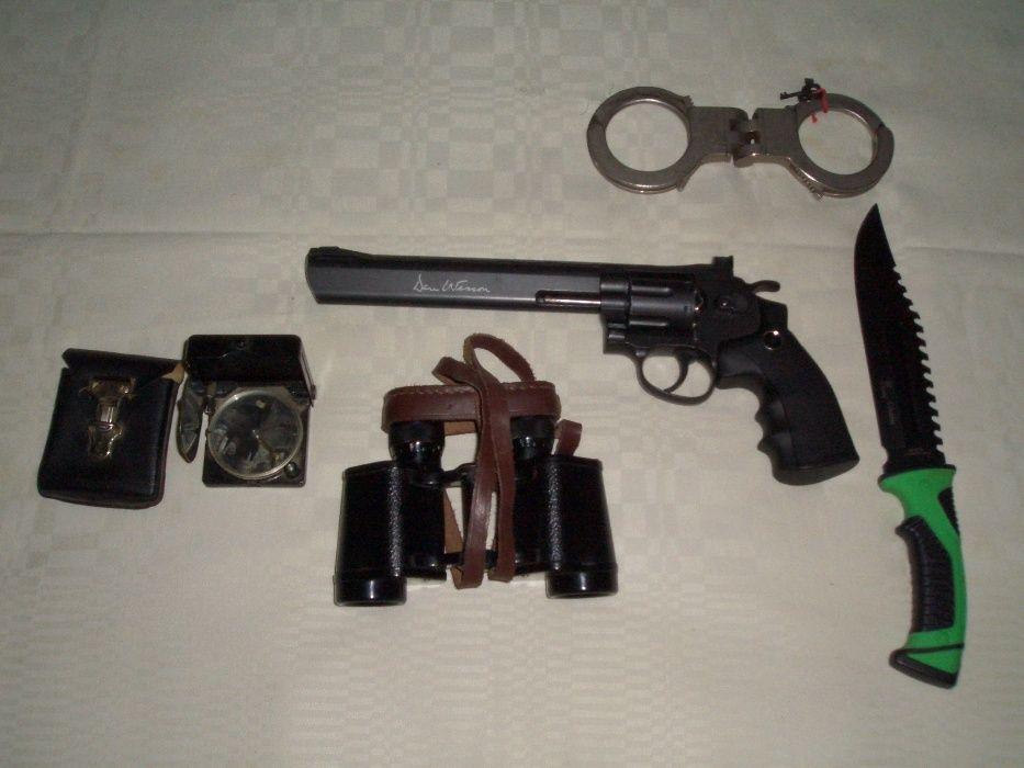 Pistol air soft 5 juli CO2,Binoclu,Catuse,Busola,Cutit sau Baioneta