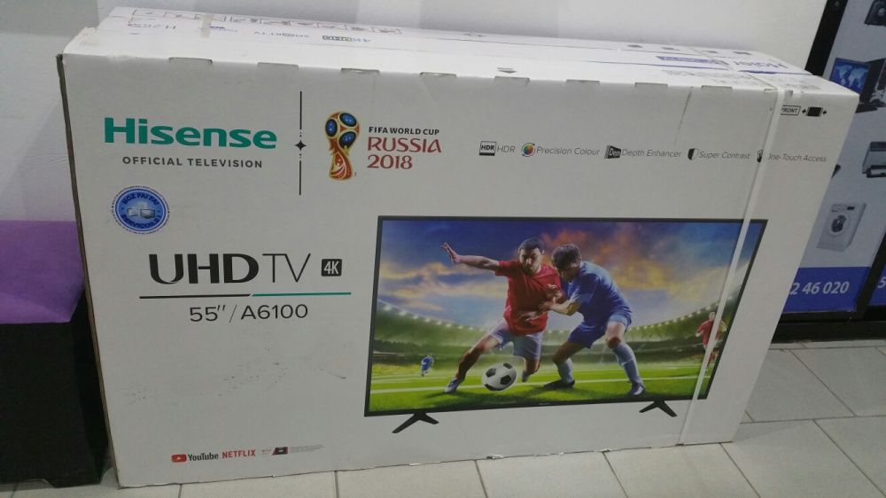 Promoção de tvs hisense LED FULL HD 4k SMART 55 polegadas novas