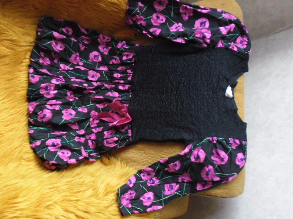 рокля-балон в черно и циклама и още една подарък
