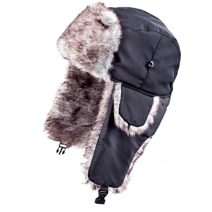 Много топла Зимна шапка ушанка с дебел пух и коланче всеки има нужда