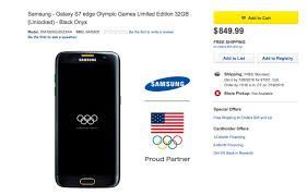 Galaxy S7 edge Olympic Games Limited Edition.Dual Sim/Duos all Black