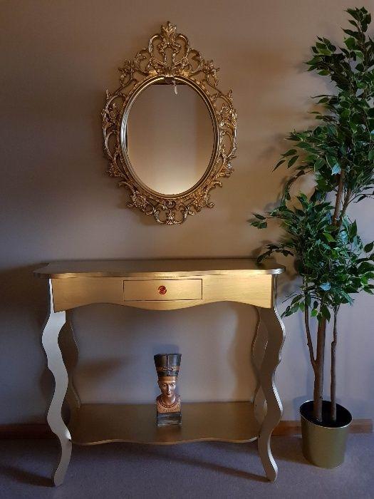 SET Consola din lemn cu oglinda cristal, rococo, baroc, masa machiaj