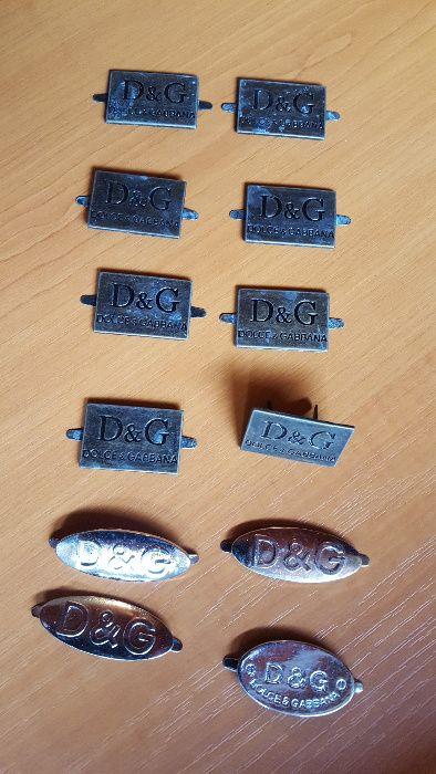 Dolce & Gabbana Designer emblema/logo metalic pentru colectionari