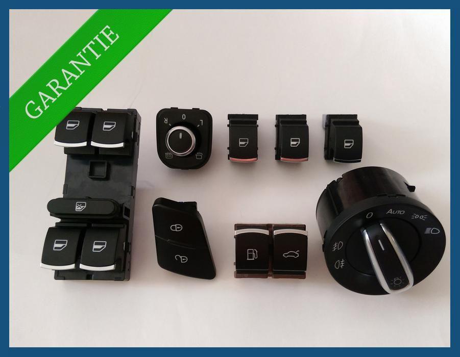 Set complet butoane geamuri electrice CHROME VW Passat B6 B7 CC
