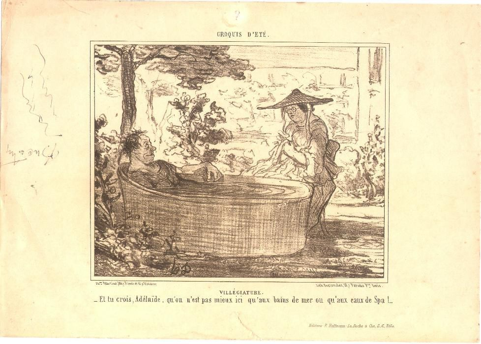Honore Daumier - litografii reclama medicamente farmacie