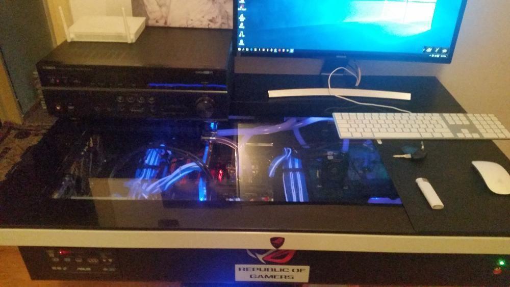 sistem pc integrat in Birou watercooling (case/desk) i9 7980xe