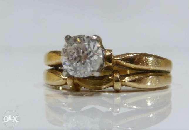 Inel aur 14k cu diamante 0.45ct