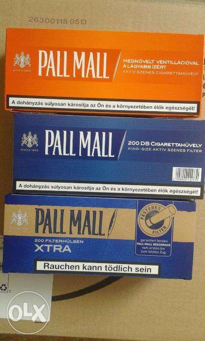 Tuburi filtre Pall Mall albastru, portocaliu sau Xtra