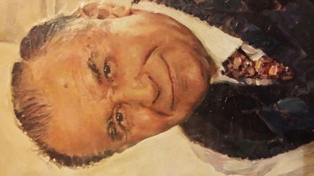 Tablou Pictura in ulei - Portretul Presedintelui ION ILIESCU Bucuresti - imagine 1