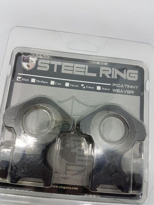 CCOP USA Inele otel extra inalte 35mm luneta arma vanatoare sina 21mm