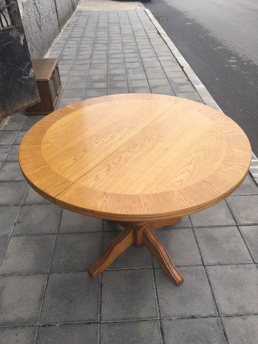 Масивна дървена маса+Столове