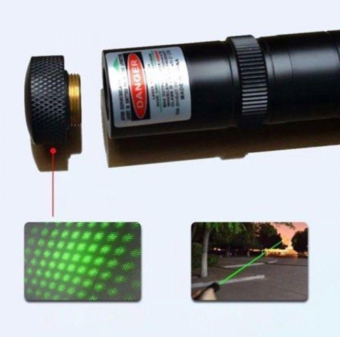 Green laser Pointer Mediu 1000 MW Laser Verde 3D cu Acumulator