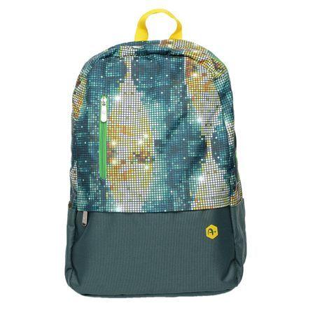 Rucsac laptop A+ Casual B84 Unisex verde multicolor