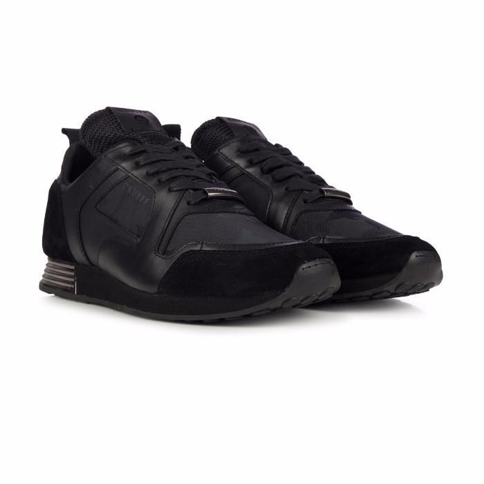 Cruyff Lusso 317 Black Coated Lthr Trainers