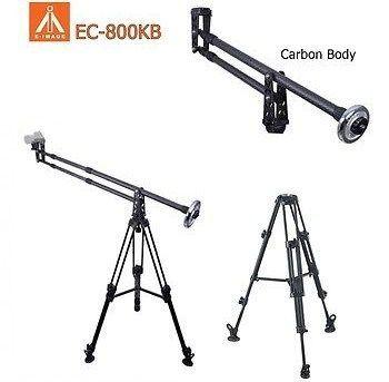 Trepied aluminiu EI-AT7402A + Macara video carbon E-image EC-800KB