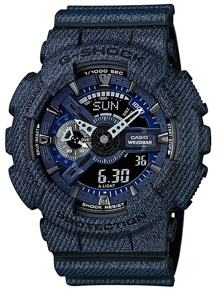 Ceas Casio G SHOCK GA110 DC ,Denim- black (ORIGINAL) ,NOU