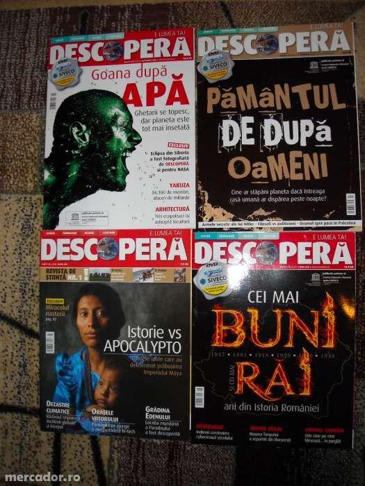 Lot revista Discovery DESCOPERA 2007-2008 4 bucati Nou-noute