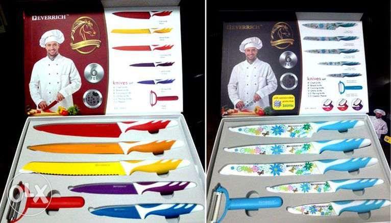 """Набор кухонных металлокерамических ножей от магазина """"1000 мелочей"""""""