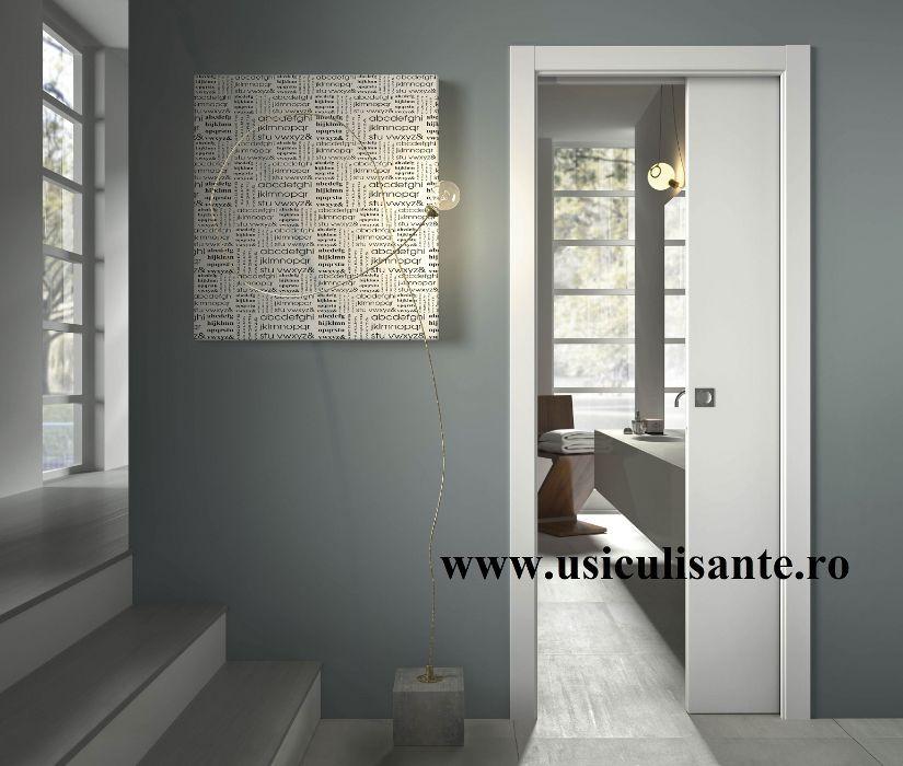 usi culisante-glisante in perete Scrigno, model Cieca, culoare alba