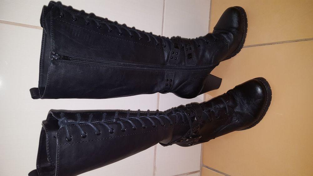 Ghete / cizme lungi piele 38