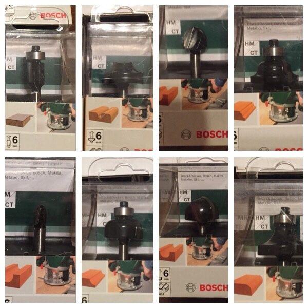 Bosch freze de profilat cu rulment prindere 6mm pentru lemn makita aeg