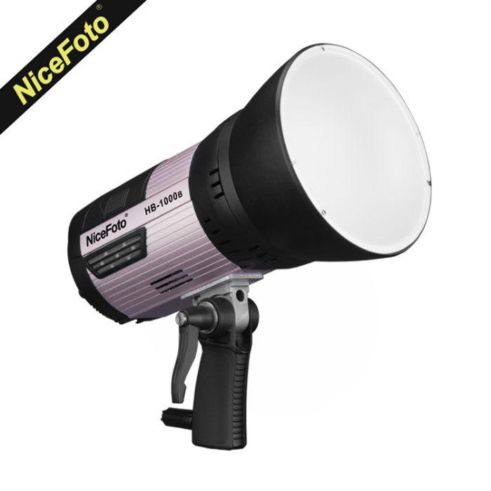 Lampa led foto NiceFoto HB-1000B studio prindere bowens cu baterie