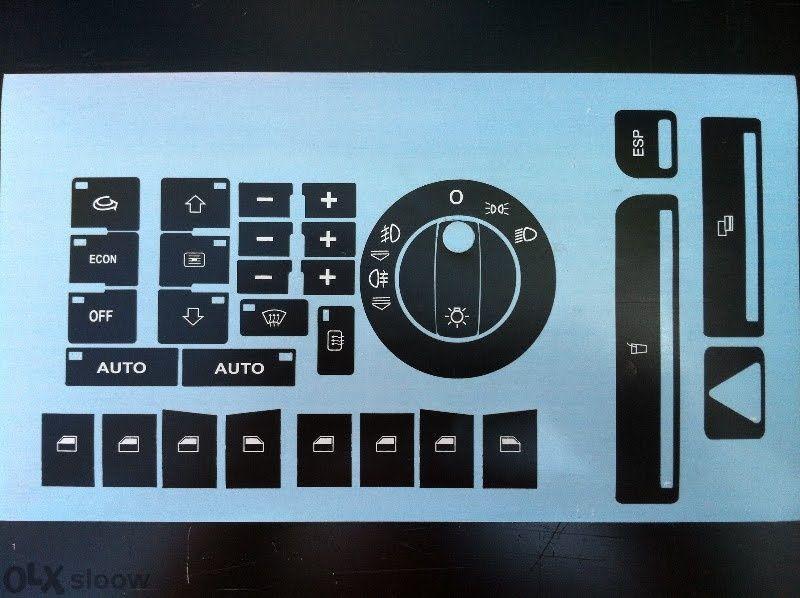 Нов модел стикери - лепенки за възстановяване на копчета, бутони А4