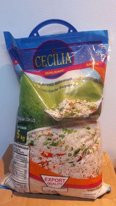 Arroz Basmati Cecilia ( origem India) saco de 5 kg. (Entrega a domici