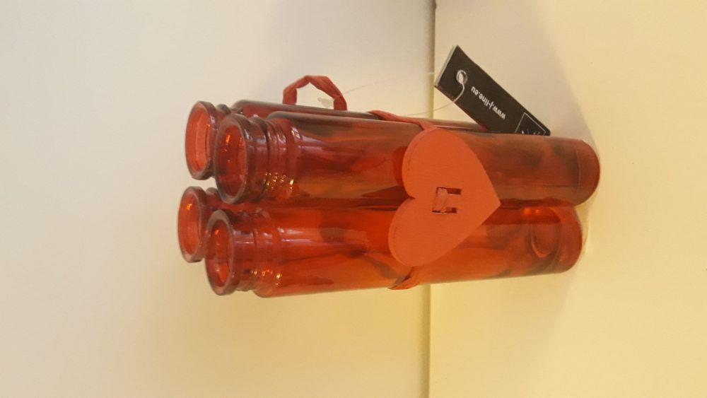 Винтидж стъкленици комплект вази
