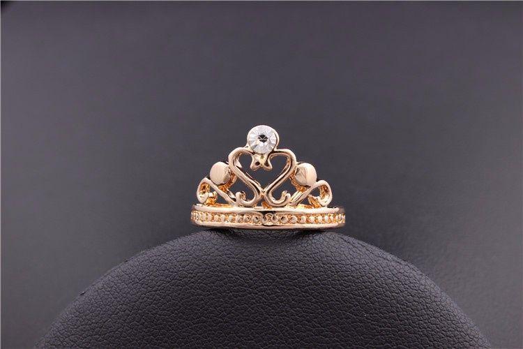 GR271,inel placat aur 18k, model coroana,superb