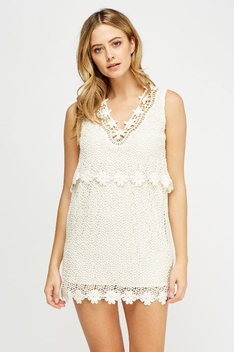 Красива лятна дантелена рокля, поръчвана от Англия- UK 8
