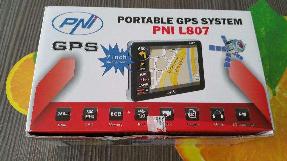 GPS portabil PNI L807 ecran 7 inch, 800 MHz, 256M DDR3, 8GB