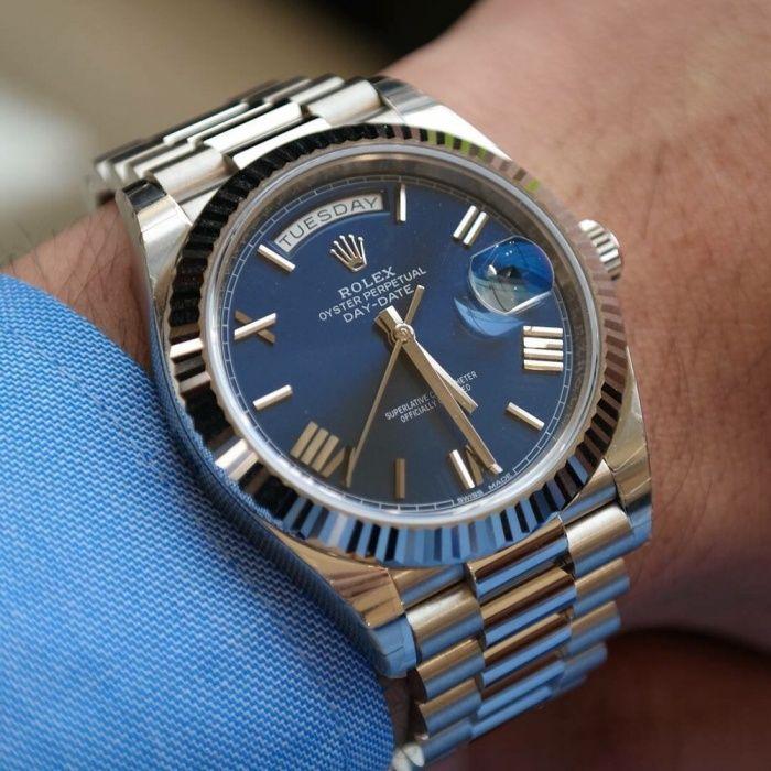 Rolex Day Date Silver, Mecanism AUTOMATIC ETA !!!