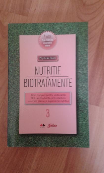 """Vand cartea """"Nutritie si biotratamente vol. III"""""""