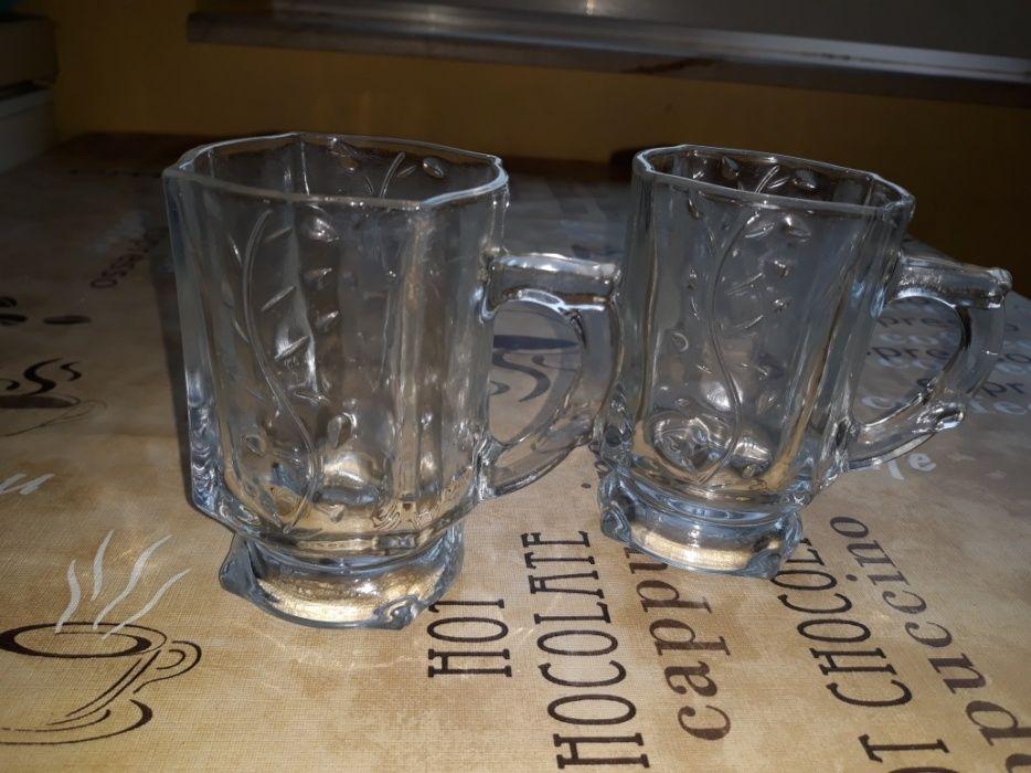Halbe NOI mici din sticla pentru cuplu