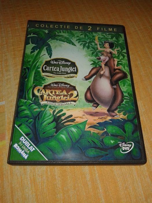Cartea Junglei 1 si 2 Disney - colectie 2 dvd desene dublate romana