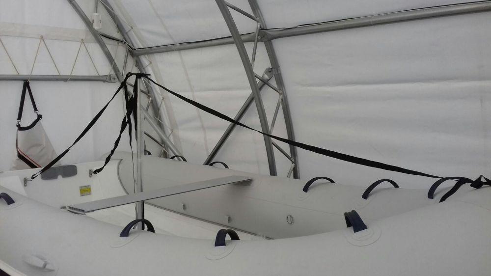 Телескопична подпора за платнище за лодка